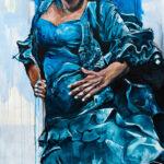 Flamenco-100x150cm-acryl-op-doek