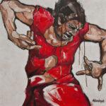 Flamenco-17-100x100cm-acryl