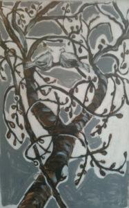 vijgenboom met duif